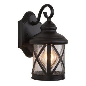 1 Light Exterior in Black Finish