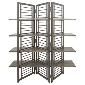 Folding Floor Screen w / Shelves